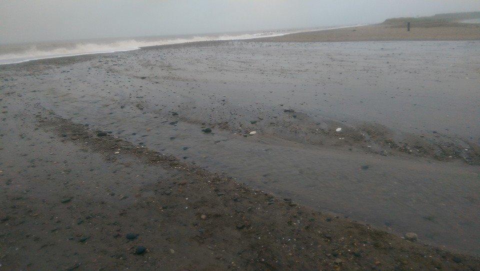 The breach along Spurn Point